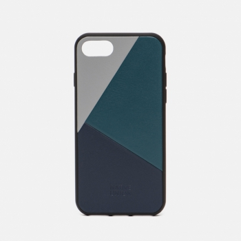 Clic Marquetry iPhone 7/8 Grey/Dark Green/Dark Blue