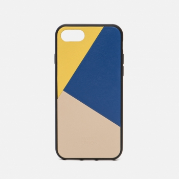 Чехол Clic Marquetry iPhone 7/8 Yellow/Blue/Beige