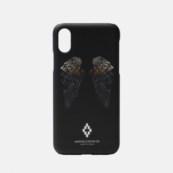 Чехол Heart Wings iPhone X Black/White